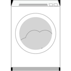 洗濯待ちの汚れ物が入った洗濯機 (槽)